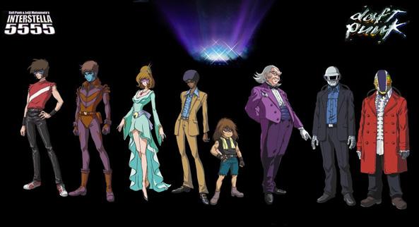 I personaggi di Interstella 5555 dei Daft Punk